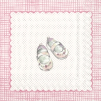 Servietten 33x33 cm - FOR MY LITTLE BABY light rose
