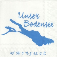 Lunch Servietten UNSER BODENSEE white