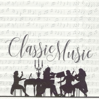 Lunch Servietten CLASSIC MUSIC white silver
