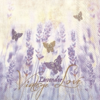 Lunch Servietten VINTAGE LAVENDER LOVE
