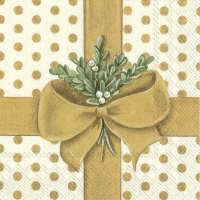 Servietten 33x33 cm - A PRESENT FOR YOU gold