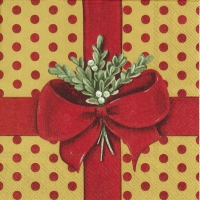 Servietten 33x33 cm - A PRESENT FOR YOU red gold
