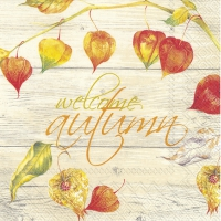Servietten 33x33 cm - WELCOME AUTUMN cream