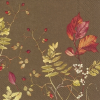 Servietten 33x33 cm - FALL BRANCHES brown