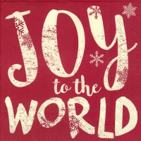 Servietten 33x33 cm - JOY TO THE WORLD rot