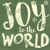 Servietten 33x33 cm - JOY TO THE WORLD grün