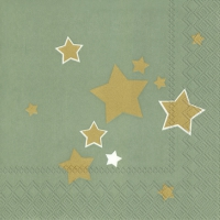 Lunch Servietten SHINY STARS celadon