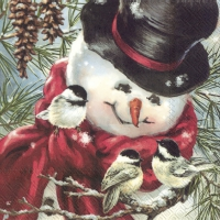 Servietten 33x33 cm - FREDDY, THE SNOWMAN