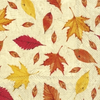 Servietten 33x33 cm - FEUILLES DAUTOMNE orange