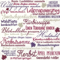 Lunch Servietten HERBSTZEIT lilac