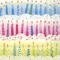 Servietten 33x33 cm - PARTY CANDLES
