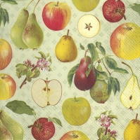 Servietten 33x33 cm - APPLE AND PEAR light green