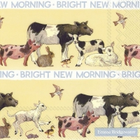 Napkins 33x33 cm - BRIGHT NEW MORNING