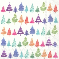 Servietten 33x33 cm - COLORFUL X-MAS