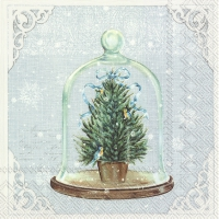Servietten 33x33 cm - BELL JAR light blue