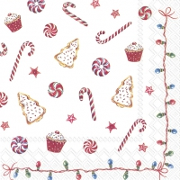 Servietten 33x33 cm - CHRISTMAS SWEETS