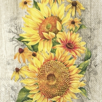 Servietten 33x33 cm - LE TOURNESOL light brown