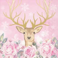 Servietten 33x33 cm - MORE ROMANCE, MY DEER rose
