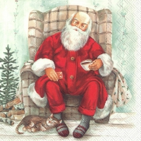 Servietten 33x33 cm - SANTA´S COFFEE BREAK