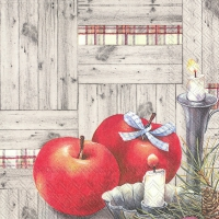 Servietten 33x33 cm - CHRISTMAS APPLES