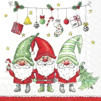 Servietten 33x33 cm - X-MAS GOOD FELLOWS
