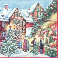 Servietten 33x33 cm - WINTERLY CHRISTMAS MARKET