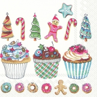 Servietten 33x33 cm - BAKING MAKES YOU HAPPY