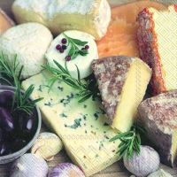Servietten 33x33 cm - CHEESE SELECTION