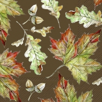 Servietten 33x33 cm - IT´S AUTUMN brown