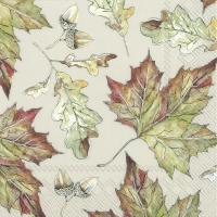 Servietten 33x33 cm - IT´S AUTUMN cream