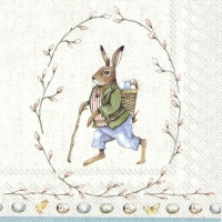 Servietten 33x33 cm - EDWARD RABBIT