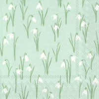 Servietten 33x33 cm - ELEGANT SPRING light blue