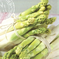 Servietten 33x33 cm - ASPARAGUS WITH LOVE