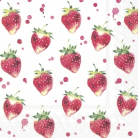 Servietten 33x33 cm - SOFT STRAWBERRIES