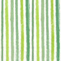 Servietten 33x33 cm - COLOURFUL STRIPES green