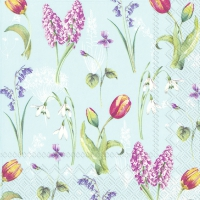 Servietten 33x33 cm - SPRING BREEZE light blue