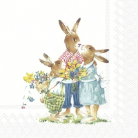 Servietten 33x33 cm - EASTER FAMILY