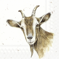 Servietten 33x33 cm - FARMFRIENDS GOAT