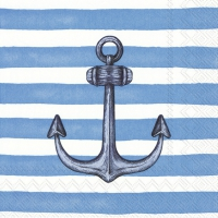 Servietten 33x33 cm - SAILOR´S ANCHOR light blue