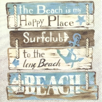 Napkins 33x33 cm - HAPPY PLACE AT THE BEACH