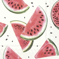 Servietten 33x33 cm - WATERMELON white