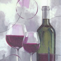 Servietten 33x33 cm - MODERN RED WINE