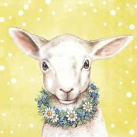 Servietten 33x33 cm - EASTERFRIENDS LAMB yellow