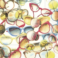 Servietten 33x33 cm - RETRO SUNGLASSES