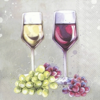 Servietten 33x33 cm - RED AND WHITE WINE