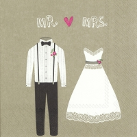 Napkins 33x33 cm - MR. & MRS. linen