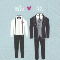 Napkins 33x33 cm - MR. & MR. light blue