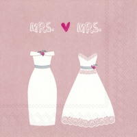 Napkins 33x33 cm - MRS. & MRS. rose