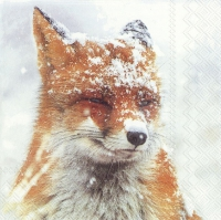 Servietten 33x33 cm - WINTER FOX
