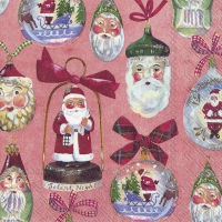 Servietten 33x33 cm - CHRISTMAS DECORATION red